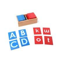 Ahşap Montessori Materyalleri Montessori Zımpara Harfleri Dil Öğrenme Materyalleri Eğitici Erken öğretici oyuncaklar YG1144H