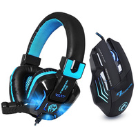 Hifi Stereo Bass Gaming Headphone Noise Canceling With Mic LED Light Game Headset 7 Buttons 5500