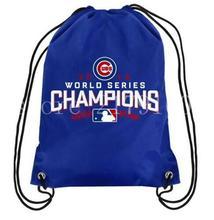 35*45 cm equipo campeón Chicago Cubs de béisbol de poliéster mochila con cordón de punto con estampado digital de Metal Ojales