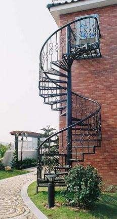 Iron Stair Railing Outdoor Stair Railings Modern Stair Railing | Wrought Iron Steps Outdoor | Wood Interior | Current | Iron Handrail | Staircase | Backyard