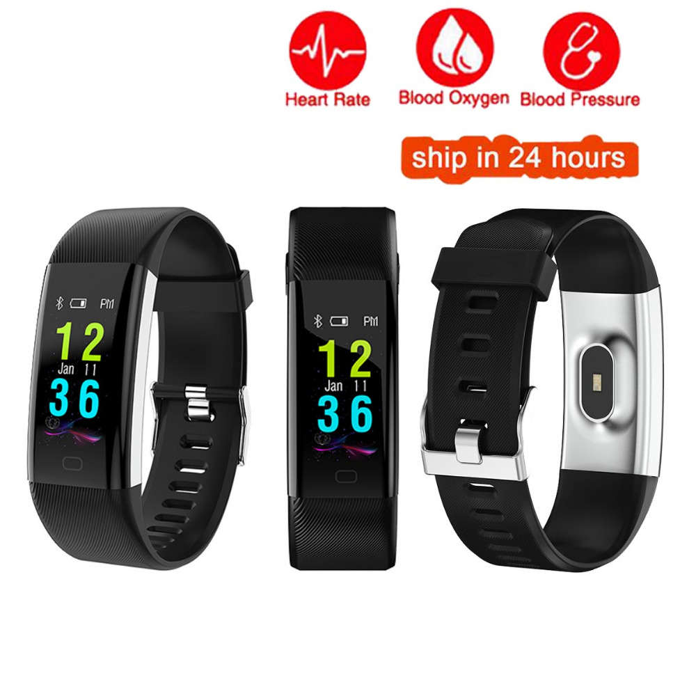 Color Screen Smart Wristband Sports Bracelet Heart Rate Blood Pressure Oxygen Fitness Tracker for Samsung Galaxy A9 A8 A7 A5 A3 недорго, оригинальная цена