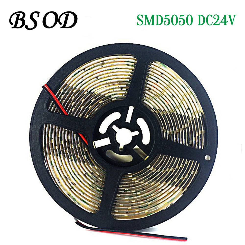 BSOD SMD5050 LED String light 300leds/5m LED Tape DC24V Waterproof IP65 White/Warm White Super Brightness  Good Quality