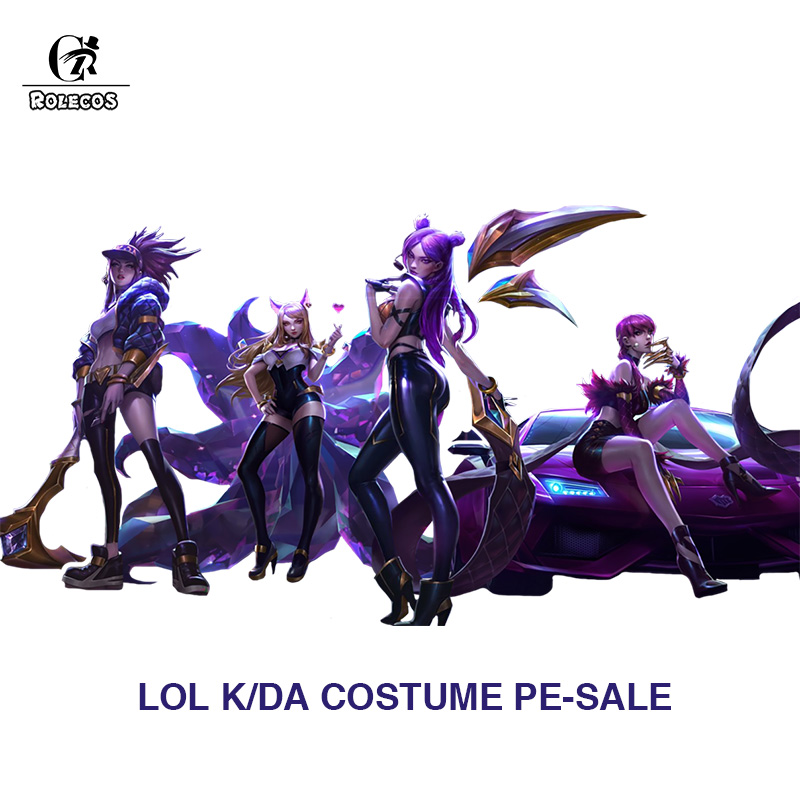 ROLECOS PRE-SALE Game LOL KDA Cosplay Costume Kaisa Cosplay Ahri Akali Evelynn Costume Women Outfit K/DA Group LOL Cos