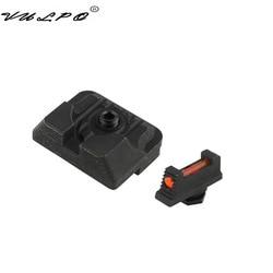 VULPO Tactical Handgun Glock Sight światłowodowy przedni i tylny celownik do glocka