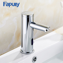 цена на Fapully Automatic Inflrared Sensor Hand Touch Tap Hot Cold bathroom Sink Faucet Chrome Polished Bathroom Sensor Faucet Mixer