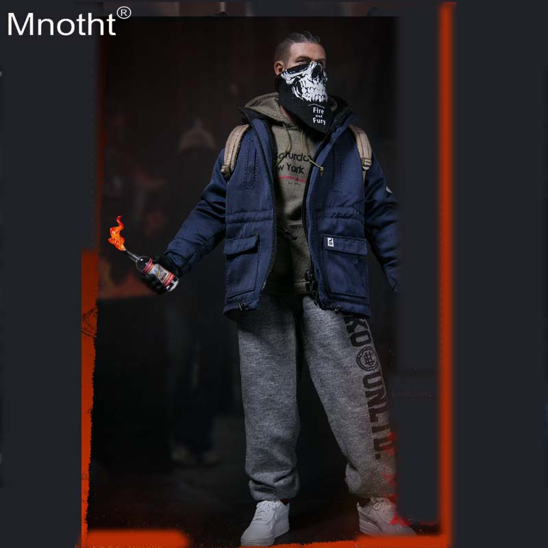 Mnotht TOYS VM-022 1/6 DARKZONE RIOTER Model Male Clothes Set Suit Accessory 12inch Soldier Collection Action Figures mb mnotht fg044 1 6 alien heteromorphic xenomorph egg facehugger model for 12inch action figure sence accessories deep green mb