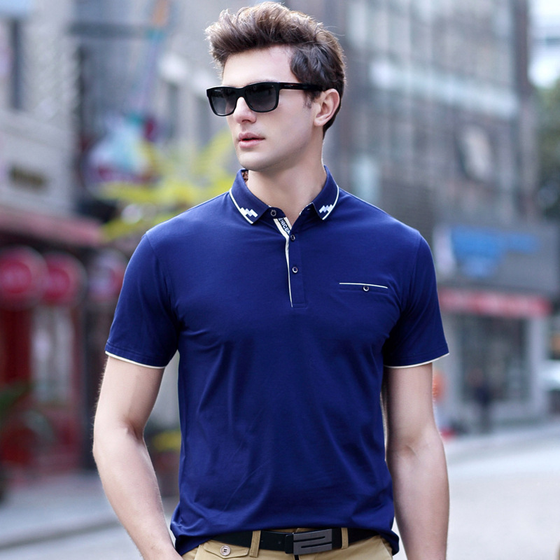 2018 Summer High quality Solid   Polo   Shirt Men Short Sleeve Business Men Shirts Slim Fit   Polo   Homme Cotton Mens   Polos