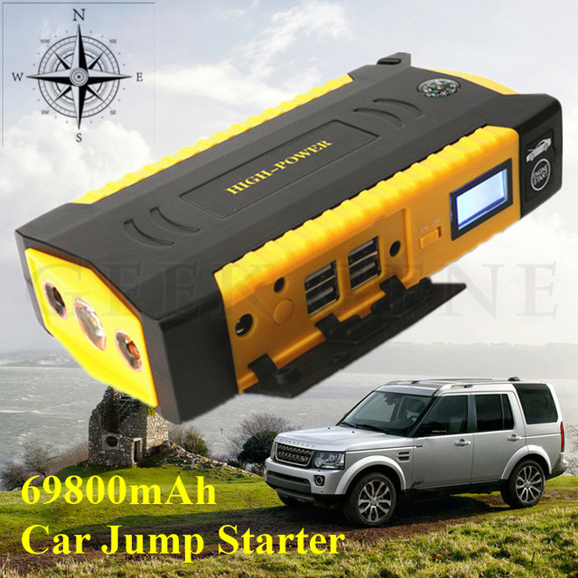 2017 latest Large capacity 16000mAh battery for car Motor vehicle booster start jumper battery Latest Car jump starter SOS light