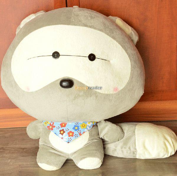 Fancytrader 39 ''/100 cm géant mignon peluche douce peluche petit raton laveur, joli cadeau jouet pour bébé, livraison gratuite FT50284