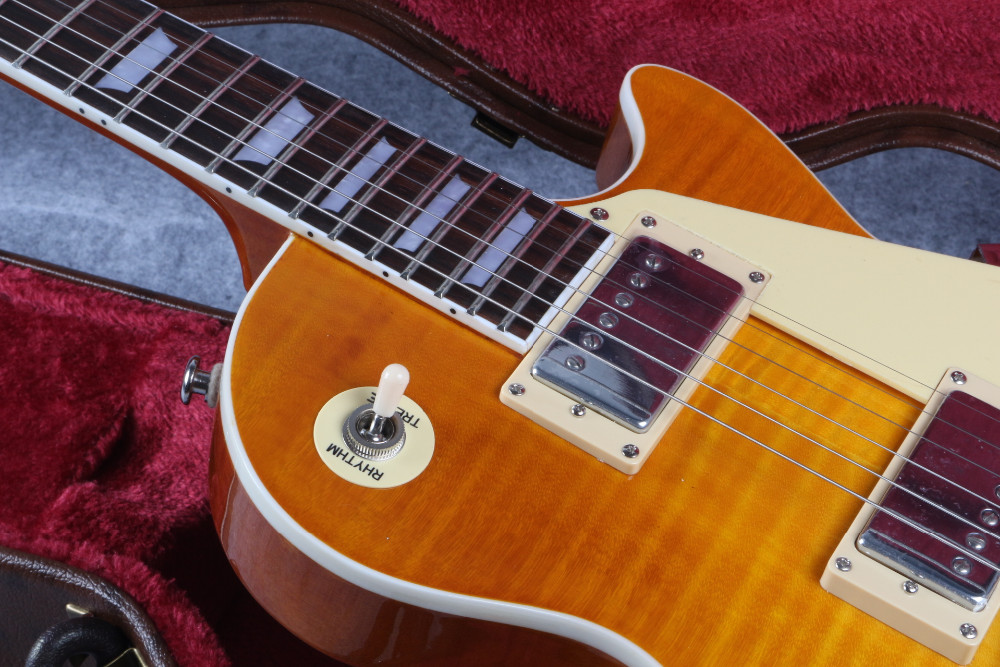 in stock 1959 R9 honey Burst Les Chinese Paul LP Style Standard Electric Guitar with EMS Free Shipping popular Burst Chinese LP new 1959 r9 les tiger flame paul electric guitar standard lp 59 standard in stock ems fast shipping vintage sunburst terry burst