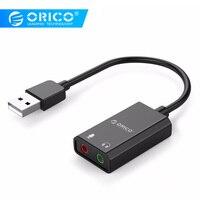 ORICO Портативная USB внешняя звуковая карта USB для наушников/микрофона интерфейс звуковая карта 10 см длина кабеля для Windows/Mac/Linux