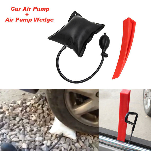 1set Air Pump Wedge Locksmith Tools Adjustable Automotive Air Airbag Pick Set Air Pump Thickened Car Door Repair Air Cushion