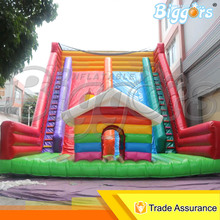 free shipping giant commercial inflatable dry slide with funny small bounce house for sale - Bounce House For Sale