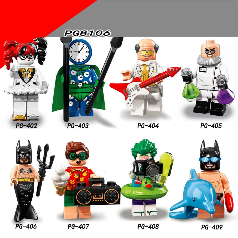 Legoings Figures super Heroes Clown Batman Model Building Kits Figurines Toys for Children