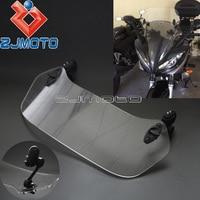 Motorcycle Adjustable Clip On Windscreen Spoiler Windshield Deflector X Creen For Yamaha YZF R3 R1 FZ1 FZ6 FZ8 Fazer MT 09 FZ 09