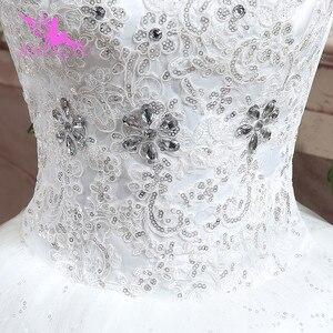 Image 4 - AIJINGYU 2021 아름다운 새로운 뜨거운 판매 싼 볼 가운 레이스 공식적인 신부 드레스 웨딩 드레스 WK316