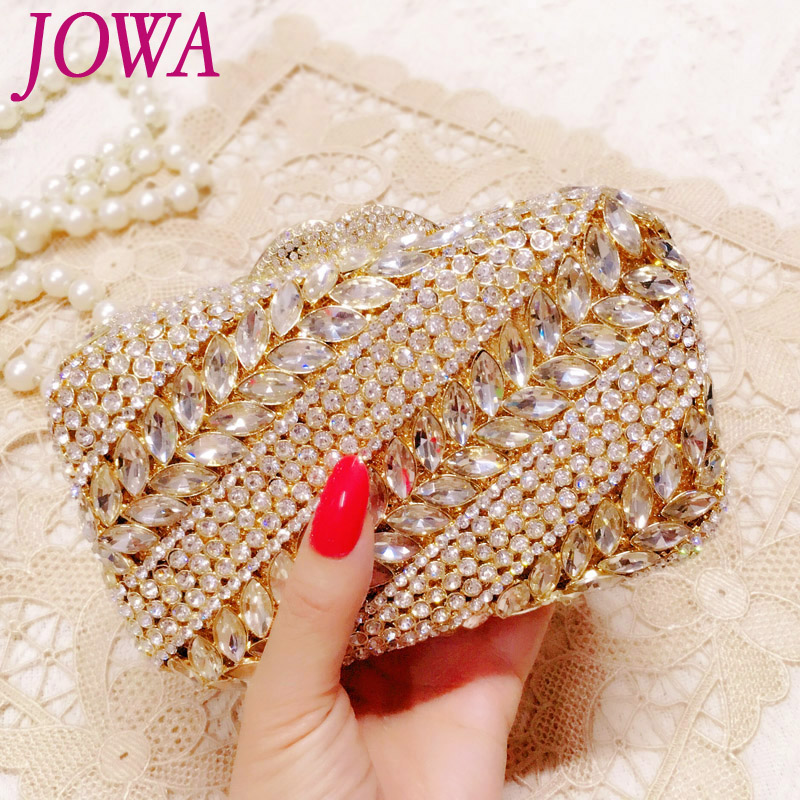 2018 New Design Fashion Evening Bag Women's Dress Handbag Shiny Diamond Mini Package Wedding Party Bride Clutch Night Gold Purse as16 9 rose top fashion luxury diamond african handbag purse for party wedding