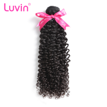 "Luvin Brazilian Kinky Curly Virgin Hair 100% Human Hair Weave Bundles Natural Color Hair Extensions Weft 10""-28"" Free Shipping(China)"