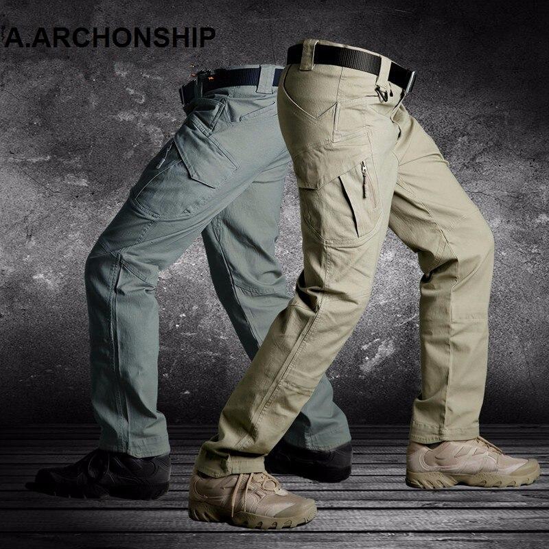2019 IX9 II Men Militar Tactical Pants Combat Trousers SWAT Army Military Pants Mens Cargo Outdoors Pants Casual Cotton Trousers 1