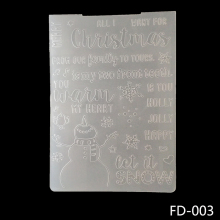 AZSG Snowman design Embossing Folder For Gift Scrapbooking Type Photo Album Card Paper Craft Template Mold