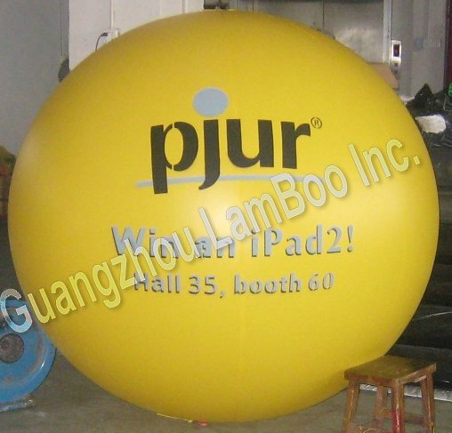 2meters Diameter Inflatable Yellow Helium ball With Your LOGO for EVENTS/ADERTISEMENT /FREE Shipping
