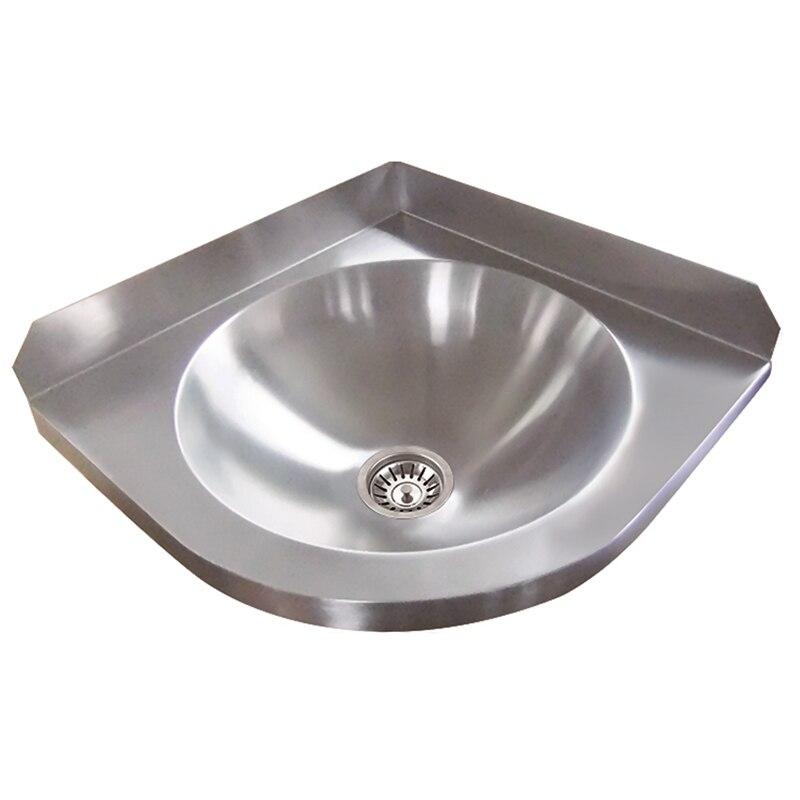 Steel Triangle Round Hand Wash Basin Corner Sink For Rv Caravan Boat