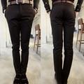 2016 New Arrival Men Pants Slim Fit Suit Pants Mens Black Cotton Trousers Pantalones Hombre Formal Pencil Pants 13M0093