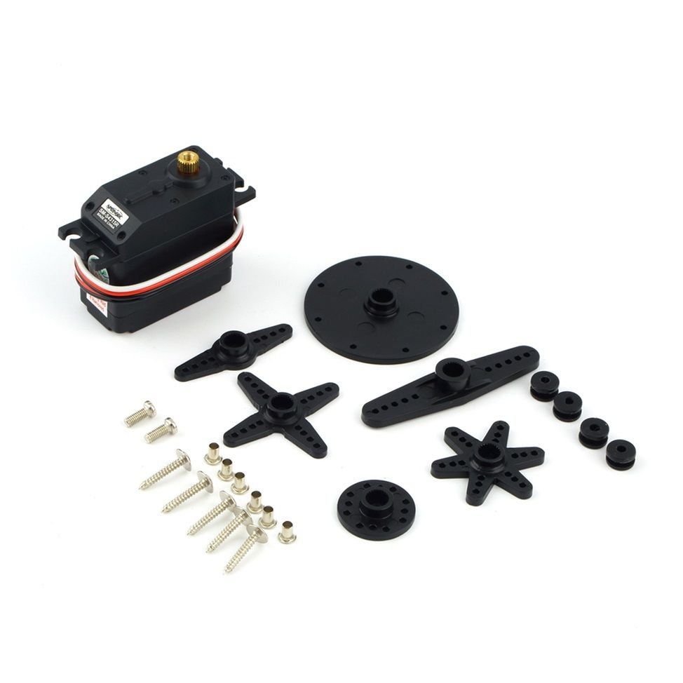 Spring RC SM-S4315R Continuous Rotation Robot Metal Gear Servo 15KG 360 degree new spring rc sm s4315m all metal gear 15kg servo for rc car boat robot high torque dual ball bearing 15kg rc parts 1 jt fci