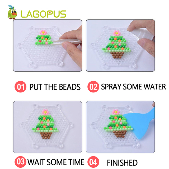 lagopus 24 Colors  DIY Water Spray Magic Beads Hand Making 3D Pearl beads Puzzle Toys for Children Chriatmas Gift