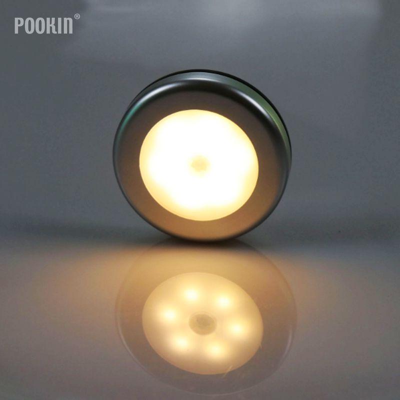 LED Smart Night Light Intelligent Auto PIR Body Motion Sensor Activated Wall Light Sensor Kitchen Cabinet Light Lamp