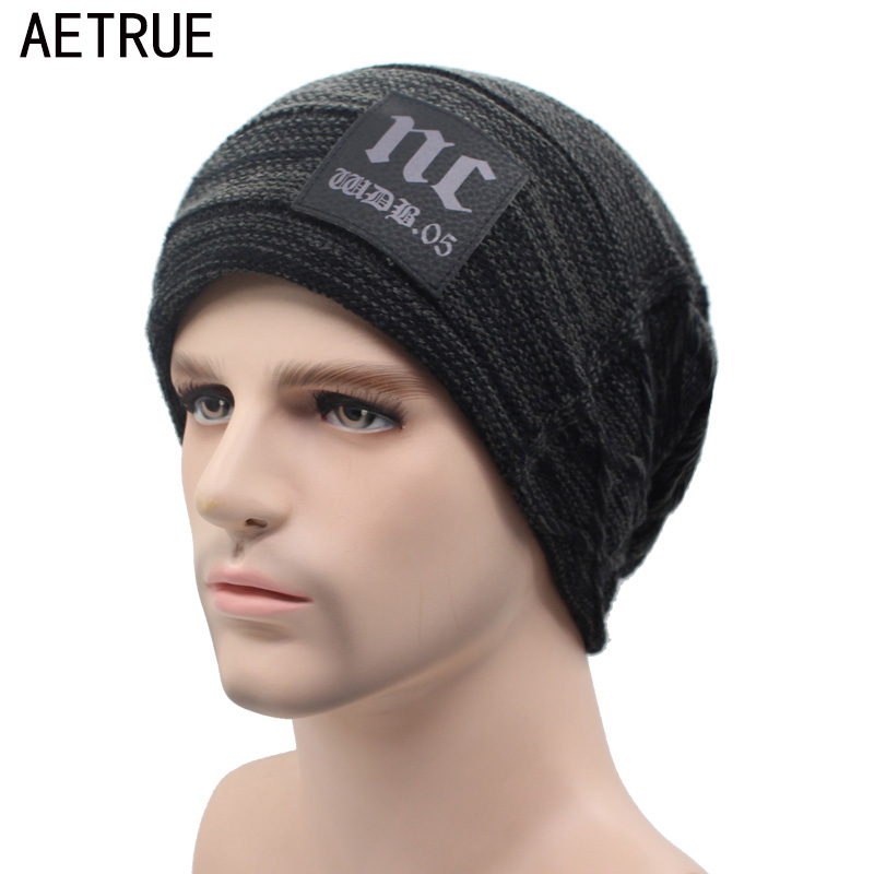 AETRUE Brand Knitted Hat Winter Beanies Men Caps Mask Gorras Bonnet Warm Baggy Winter Hats For Men Women Skullies Beanies Hats aetrue beanies knitted hat men winter hats for men women fashion skullies beaines bonnet brand mask casual soft knit caps hat