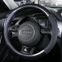 Car leather Steering wheels Cover 37 38cm 15 non slip for Audi A1 A2 A3 A4 A5 A6 A7 A8l Q2 Q3 Q5 Q7 S1 S2 S3 Sportback Avant