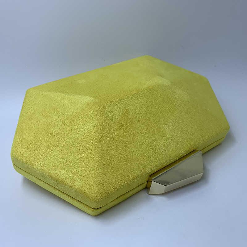 Nuphia Baru Panas Suede Clutch Malam dan Pesta Malam Tas Tangan untuk Wanita Kuning