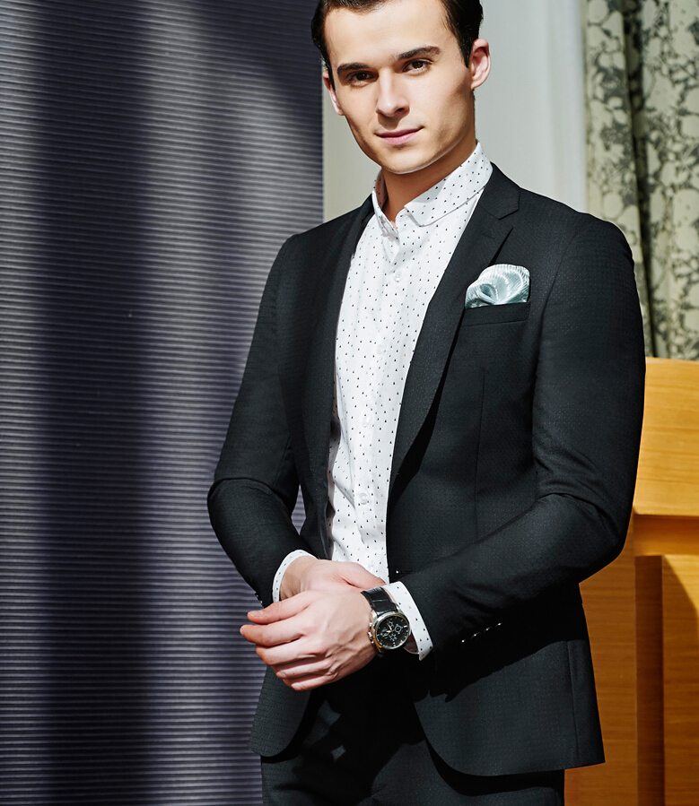 13b3e610 Western style Black Color Men Business Suits Brand Boss Suit For Men's  Wedding Groom blazers Tuxedos-in Suits from Men's Clothing on  Aliexpress.com ...