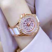 reloj mujer Quartz Watch Luxury Rose Gold Ladies Wristwatch Ceramic Dress Women Watch Women's Bracelet Watches Relogio Feminino