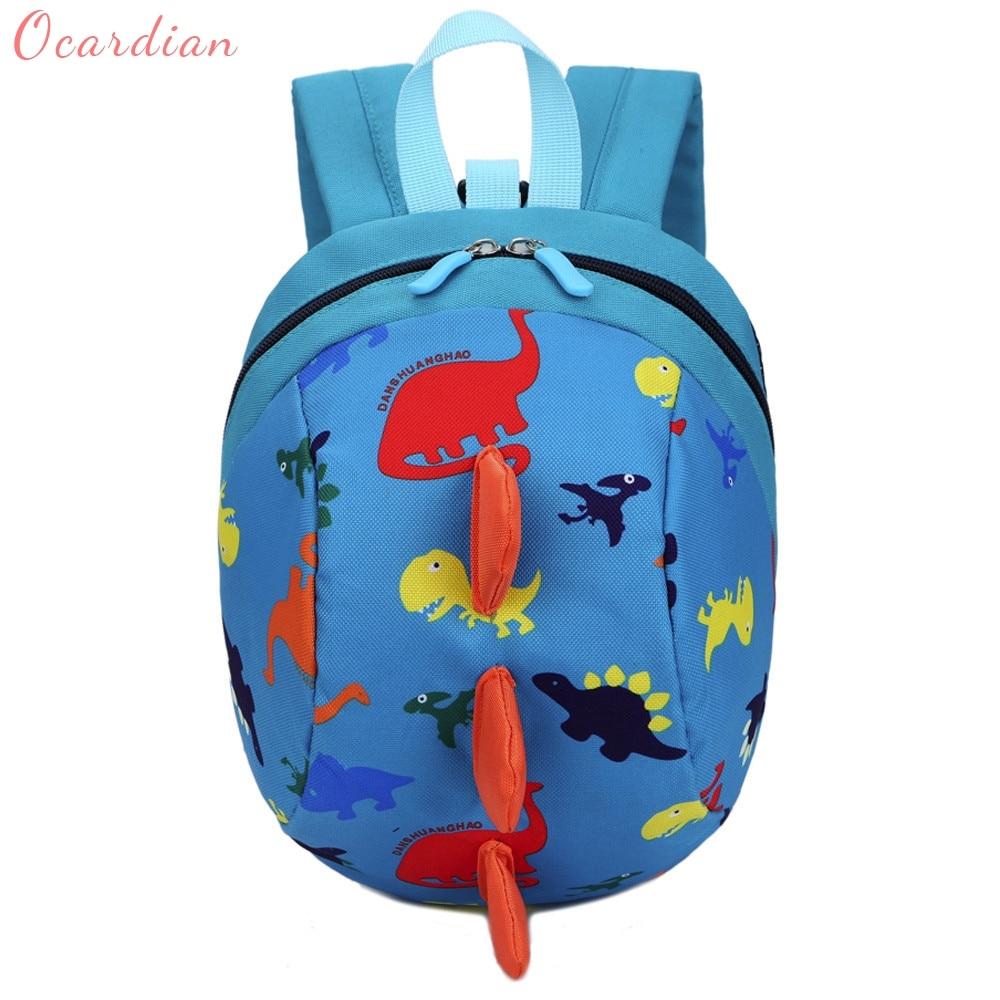 Ocardian 2017 Hot Sale Baby Boys Girls Kids Dinosaur Pattern Animals Backpack Toddler School Bag Master Designer Dropship 170906