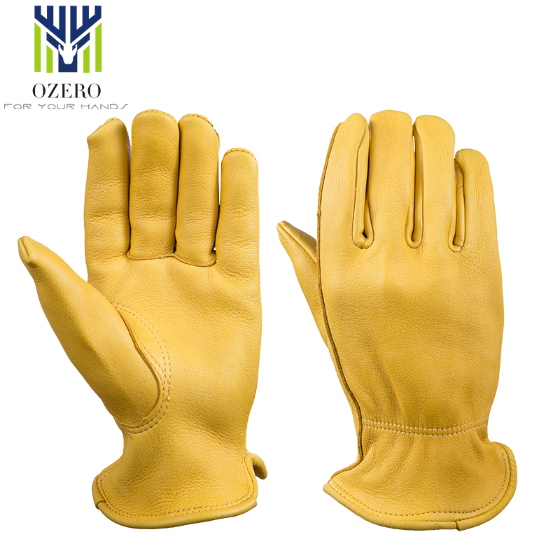OZERO High Quality Deerskin Motorcycle Racing Gloves Sports MOTO Anti Cold  Climbing Hiking Ski Winter Warm Gloves For Men 8003
