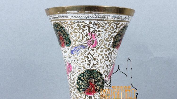 de altura branco pavão vaso de cobre