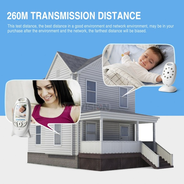 VB601 2.4Ghz Video Baby Monitors Wireless 2.0 Inch LCD Screen 2 Way Talk IR Night Vision Temperature Security Camera 8 Lullabies 1