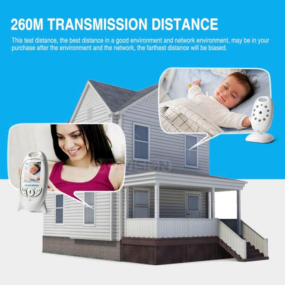 VB601 2,4 Ghz vídeo monitores de bebé inalámbrico de 2,0 pulgadas de pantalla LCD de 2 hablar IR visión nocturna temperatura de la cámara de seguridad 8 canciones de cuna - 2