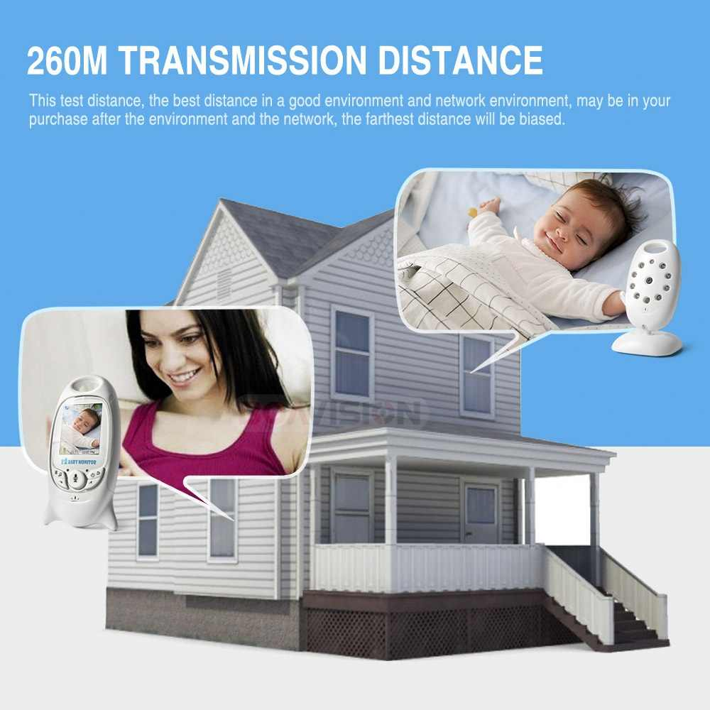 VB601 2.4Ghz Video Baby Monitors Wireless 2.0 Inch LCD Screen 2 Way Talk IR Night Vision Temperature Security Camera 8 Lullabies