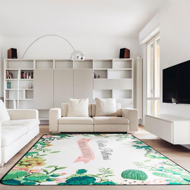 US $36.4 30% OFF|120*180cm Plant Cactus Carpet Design Kids Bedroom Area Rug  Child Crawling Play Mat Rug Non slip Living Room Carpets Floor Mats-in ...