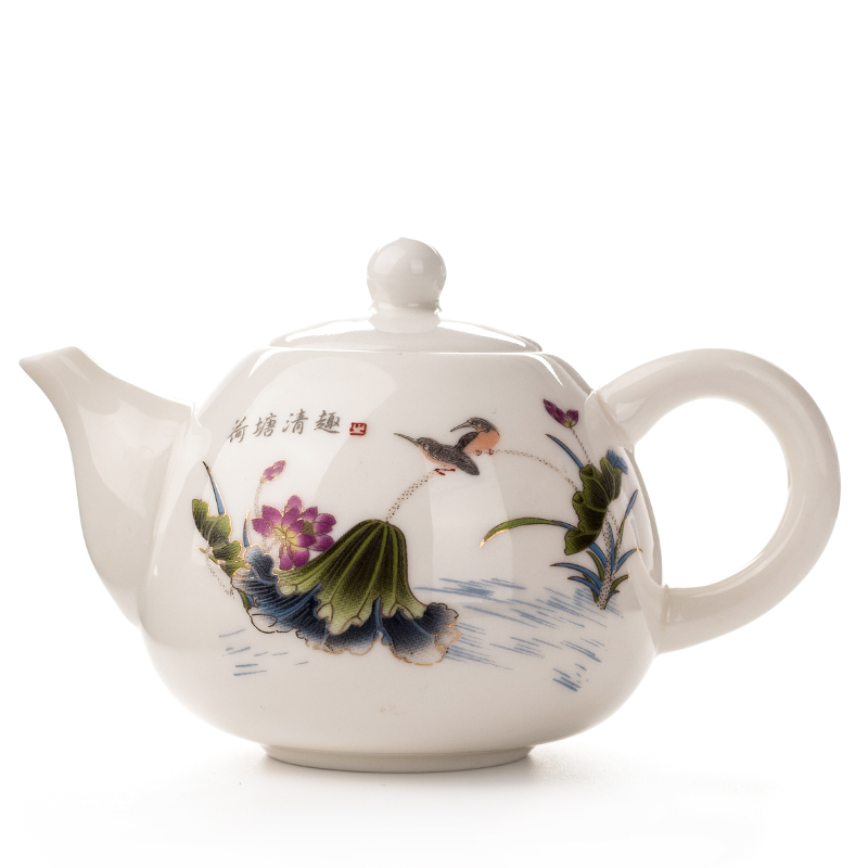 170ml Porcelain Teapot Cup With Infuser White Bone China Tea Set Ceramic Coffee Tea Pot Kettle Antique Chinese Teacup Set D001