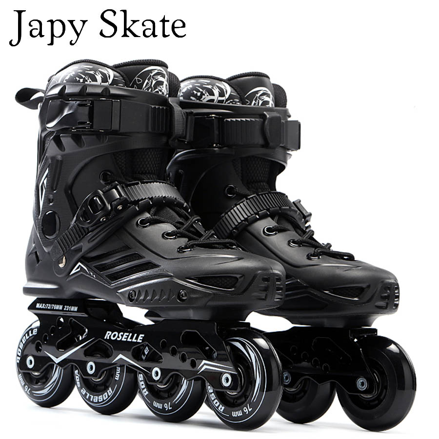 Japy Skate S6 Inline Skates Professional Slalom Adult Roller Skating Shoes Sliding Free Skating Good As SEBA Patines Adulto free shipping eco friendly wallpaper peacock print embossed pure paper tv background wallpaper