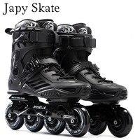 Japy Skate S6 Inline Skates Professional Slalom Adult Roller Skating Shoes Sliding Free Skating Good As SEBA Patines Adulto
