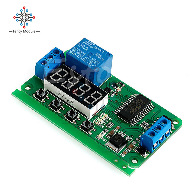 DC 12V Multifunction Self-lock Relay PLC Cycle Timer Module Delay Relay Time Switch 12v high quality cycle delay relay switch module cycle time delay circuit stable performance