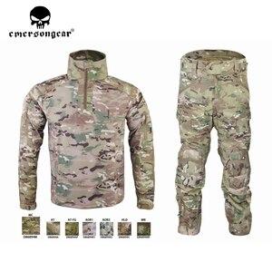 Image 1 - Emersongear HERREN Camouflage anzug Tactical Sportwear Militär Kampf Trainingsanzug Herbst & Winter Lange Ärmeln Herren Sport Anzüge