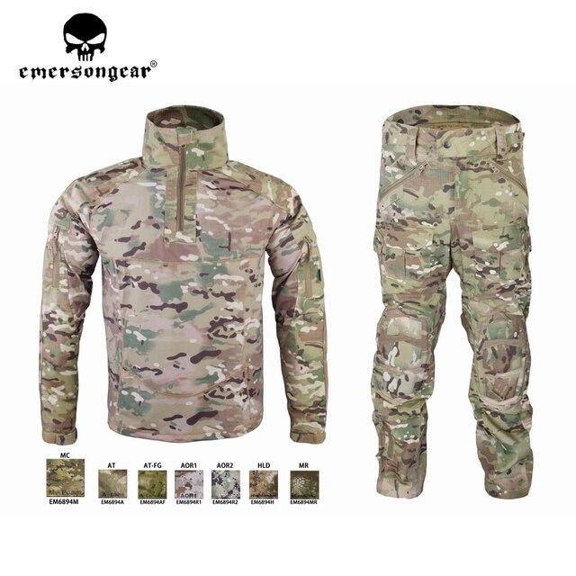 Emersongear HERREN Camouflage anzug Tactical Sportwear Militär Kampf Trainingsanzug Herbst & Winter Lange Ärmeln Herren Sport Anzüge