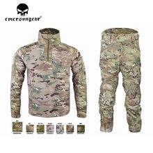 Emersongear męski strój kamuflażowy Tactical Sportwear wojskowy dres bojowy jesień i zima długi rękaw męskie garnitury sportowe