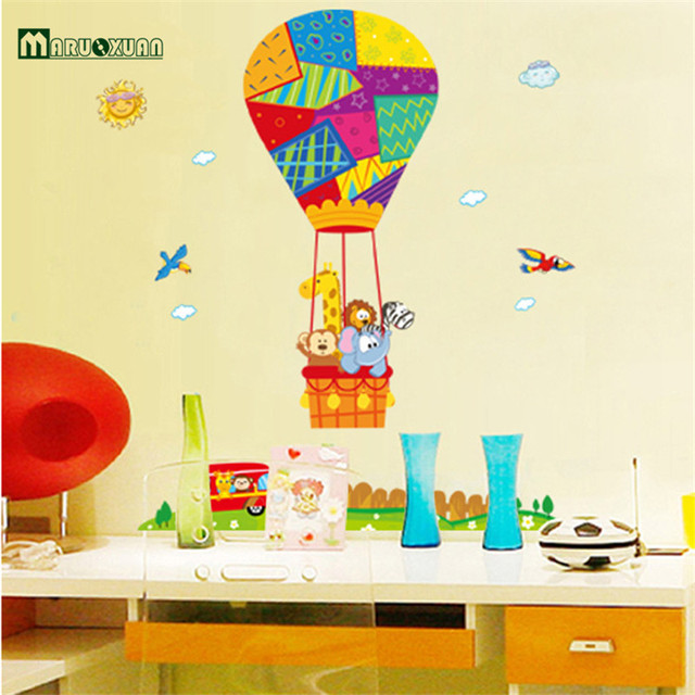 MARUOXUAN 2017 New Arrival Airplane Hot Air Balloons Removable Wall ...
